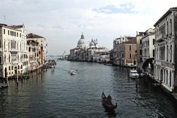 italien - venedig - santa maria della salute, canal grande